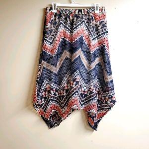 Maurices Asymmetrical Chevron Skirt